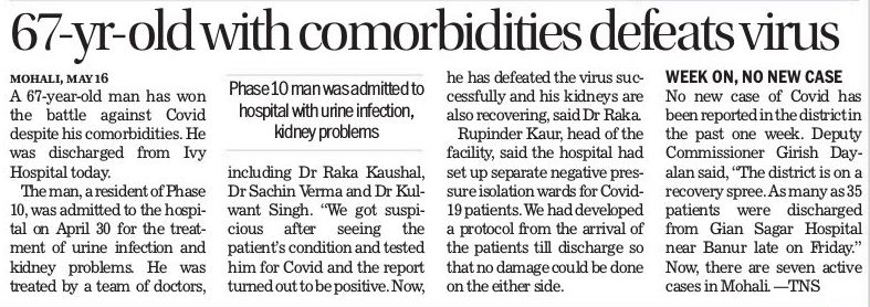 67-Year old with comorbidities defeats virus